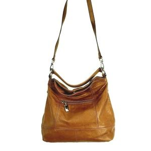 B. Makowsky  Handbag Large Leather Tote Cross body
